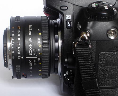 50mm lens reveresed macro