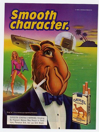 Joe camel smooth character